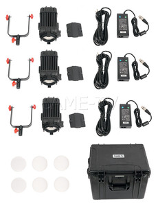 Image 5 - 3 Pcs CAME TV Boltzen 60w Fresnel Fanless Focusable LED Bi Color Kit Led video light