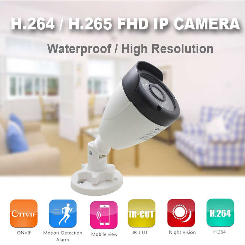 POE Camera 1080p HD Cctv Video Surveillance Bullet IPCam Infrarood Home Outdoor Waterdichte Onvif Thuis Camera Ip