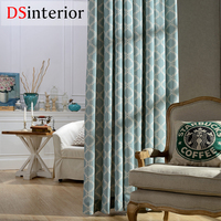DSinterior High Quality Classic Modern Design Printing Polyester Cotton Curtain For Living Room Or Bedroom