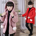 Girls Coats Baby Winter Girls Jackets Hooded Kids Coat Kids Clothes Girls Outerwear Candy Cute Children's Clothing GH316