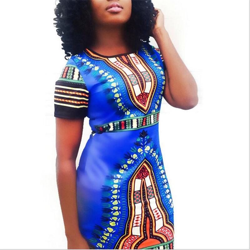 African Women Fashion: Womens Summer African Print Sexy Dashiki Dress Traditional
