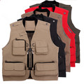 Photo Vest Men's Casual Clothing Vest Multi-Pocket Waistcoat  Multifunctional Men Vest