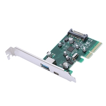 Usb 3.1 Type-A & Type-C Ports Pci-Express Card For Desktop Pc,10Gbps 4008bl 1 ieee1284 vxd small buffer type pci card 100% tested perfect quality