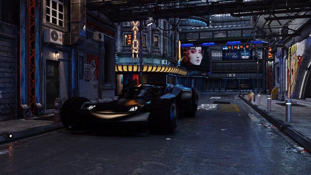 night sky Super hero Batman city street backdrop Vinyl cloth High quality Computer print children kids background