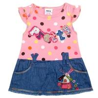 Retail Can Choose Siz NOVA Kid Girl Print Dress For Girl Dress Brand Children Clothing Casual