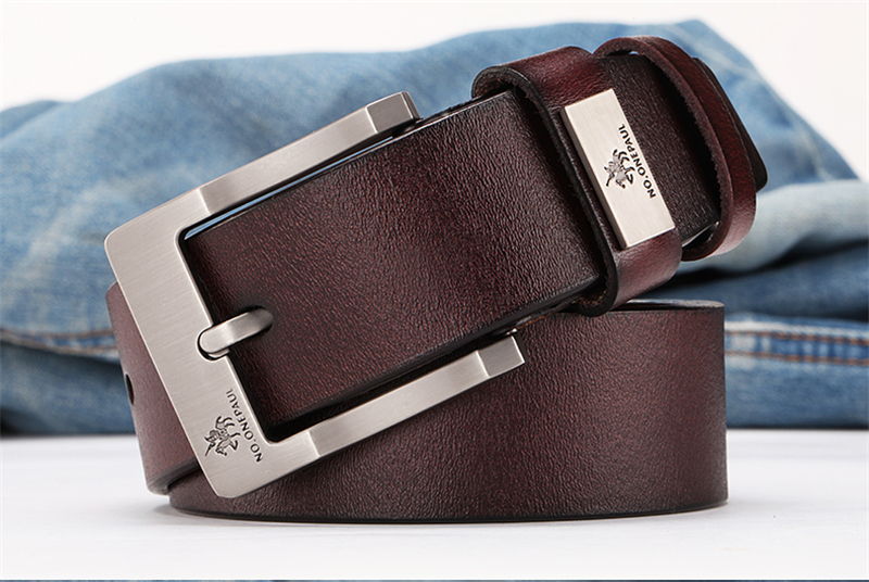 HTB1YjEBacvrK1Rjy0Feq6ATmVXai - NO.ONEPAUL buckle men belt High Quality cow genuine leather luxury strap male belts for men new fashion classice vintage pin