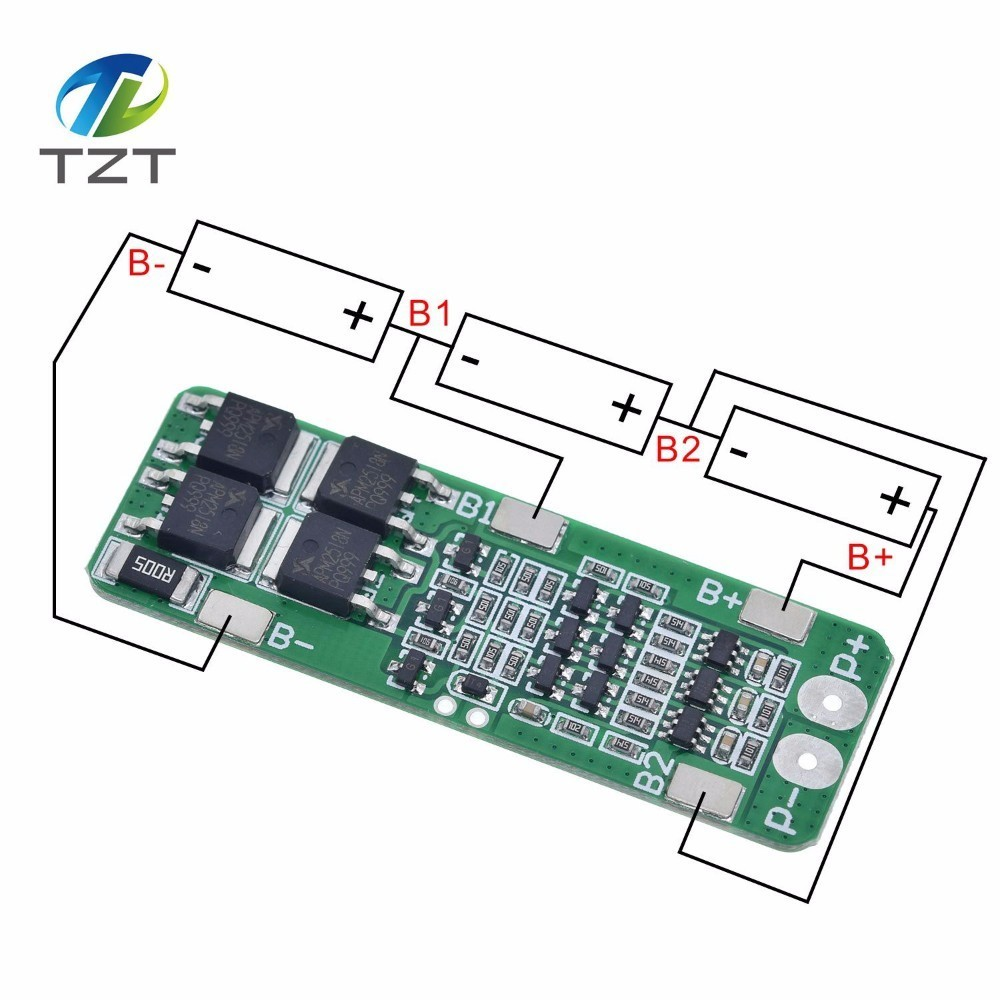 3S 5A 12V Li-ion Lithium Battery 18650 Charger PCB BMS Protection Board Cells4