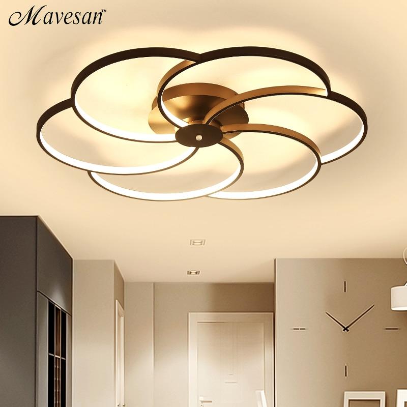 Us 97 0 49 Off Modern Led Ceiling Light For Large Living Room Bedroom Lighting Fixtures Lamp Luminaires Home Ac110v Ac220v In