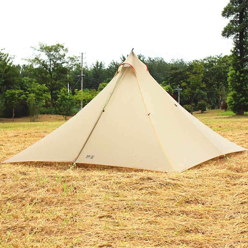 ASTAGEAR 30D silnylon ultralight ASTA piramida odkryty 2/4 osoba 2 warstwy 3 sezony namiot kempingowy