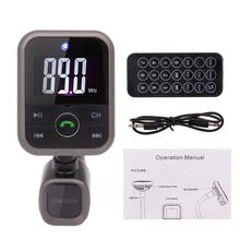 Car Kit MP3 Player Wireless Bluetooth FM Transmitter Radio Adapter Car Charger USB SD Card Reader and Calling Remote Control