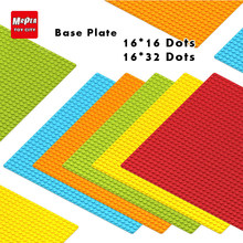 16*16 16*32 legoing Dots Base Plate For Small Bricks Baseplate Board DIY Building Blocks Accessories playmobil Toys For Children(China)