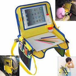 Wodoodporna taca na siedzenia samochodowe dla dzieci akcesoria dla wózków dziecięcych maluch fotelik samochodowy przenośne jedzenie przekąska zagraj w taca podróżna w Przechowywanie i organizery od Matka i dzieci na