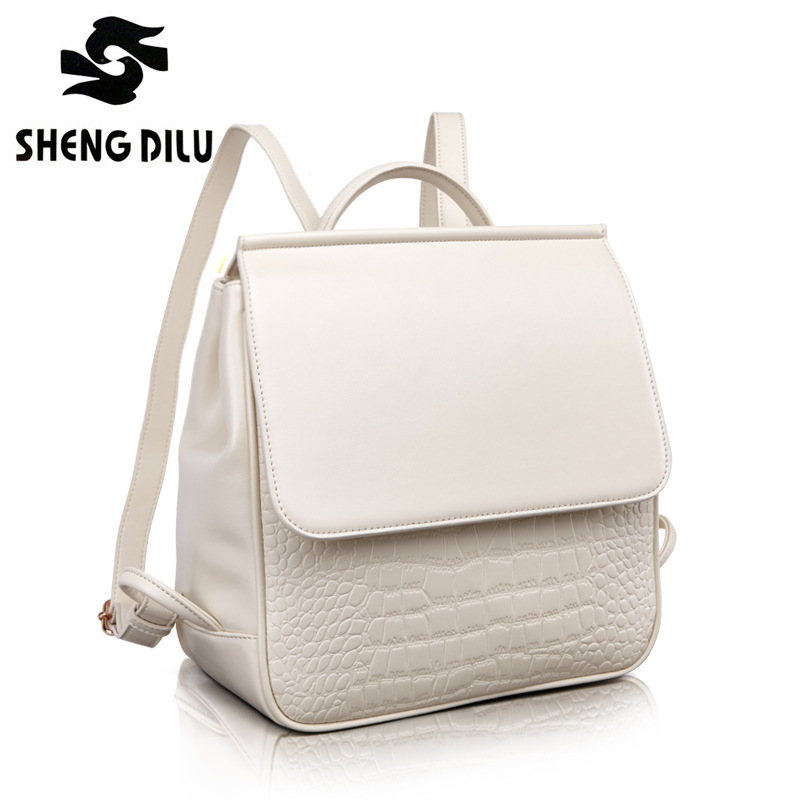 ShengDiLu Rotro Backpack Women Real Leather Bag Women Bag Small Women Backpack Mochila Feminina School Bags for Teenagers Bags weave backpack women genuine leather bag women bag cow leather women backpack mochila feminina school bags for teenagers li 1390