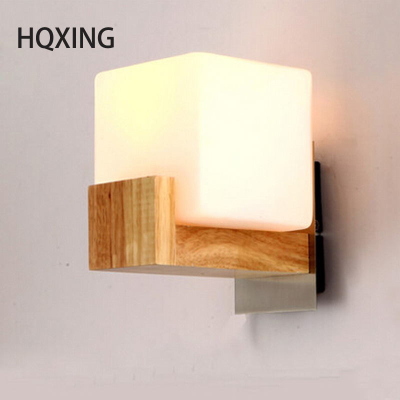 HQXING Northern Europe Style Wood LED Wall Light Lamps For Home Lighting bed light,Wall Sconce Arandela Lamparas De Pared