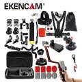 EKENCAM Sports caméra accessoires Kits set 3 voies monopode pour gopro hero 6 5 4 3 sjcam sj4000 pour EKEN H9 H8r xiaomi yi 4 K caméra