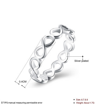 Modyle 2018 New Infinity Ring for Women Silver-Color Wedding Jewelry