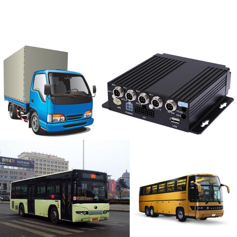 SW-0001A 4CH SD Controle Remoto HD DVR Carro Gravador de Vídeo Em Tempo Real para Truck Bus RV 4CH Móvel Do Carro DVR SD MDVR Traço Camera 128 gb