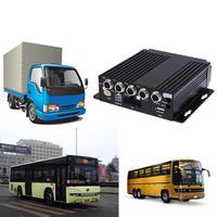 SW 0001A SD Remote Control HD Car DVR 4CH Realtime Video Recorder for Bus Truck RV Mobile 4CH Car DVR SD MDVR Dash Camera 128 gb