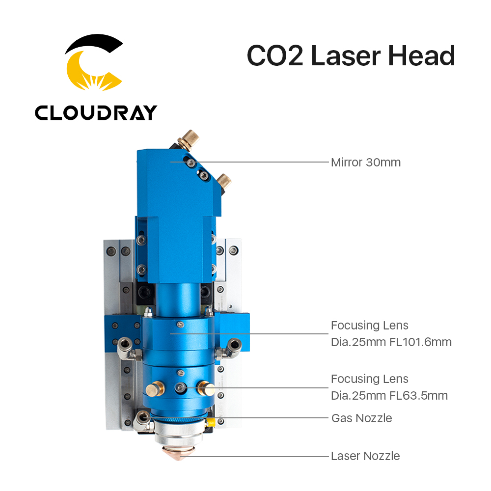 hight resolution of cloudray 500w co2 laser cutting head metal and non metal mixed cut head for laser cutting machine laser head in woodworking machinery parts from tools on