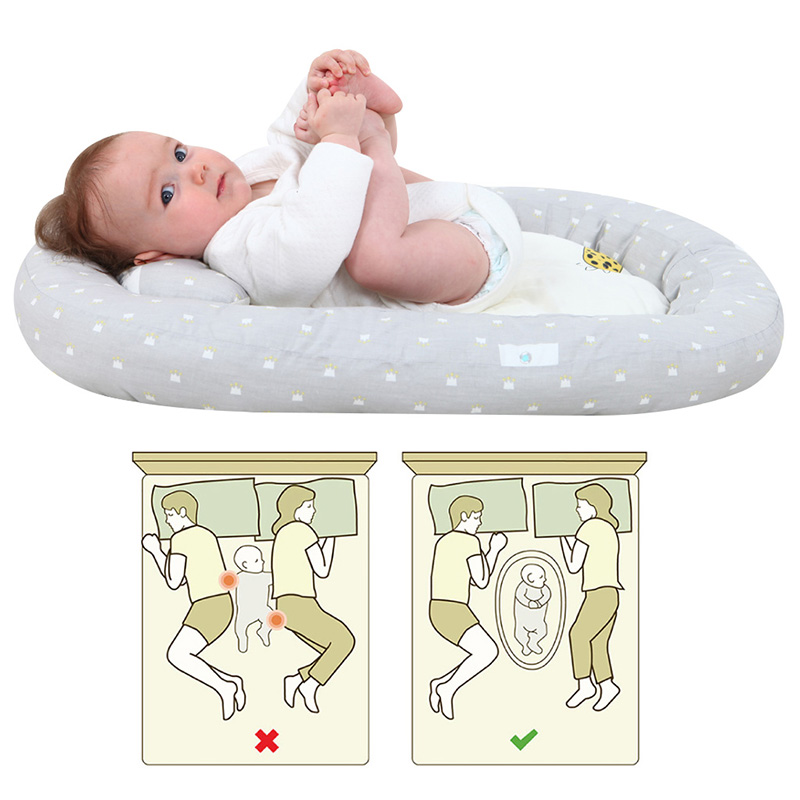 74*51cm Baby Nest Bed Portable Crib Travel Bed Infant Toddler Cotton Cradle For Newborn Baby Bassinet Bumper Bed 0-4Mouth H