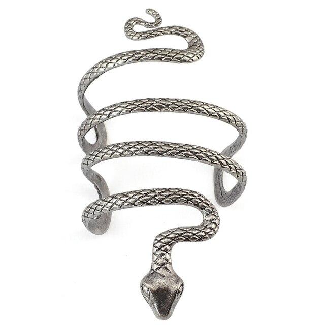 Богемский уникальный браслет турецкий панк тибетский серебряный змеиная форма модный Открытый браслет манжета браслеты для мужчин и женщи...