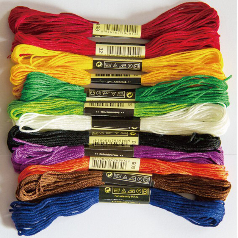 Cross Stitch threads The Unique Style 10 Cross Stitch Cotton Embroidery Thread Floss Sewing Skeins Craft Dofferent Colors shop2|Floss|Home & Garden - AliExpress