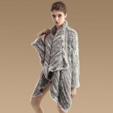 YC Fur настоящий кроличий мех женские пальто куртки зимние теплые толстые натуральный мех куртка пальто дамы подарок верхняя одежда