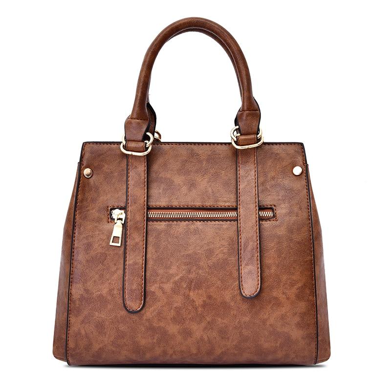 2019 Fashion Women Handbag PU Leather Women Bag Large Capacity Tote Bags Big Ladies Shoulder Bag Famous Brand Bolsas Feminina in Shoulder Bags from Luggage Bags