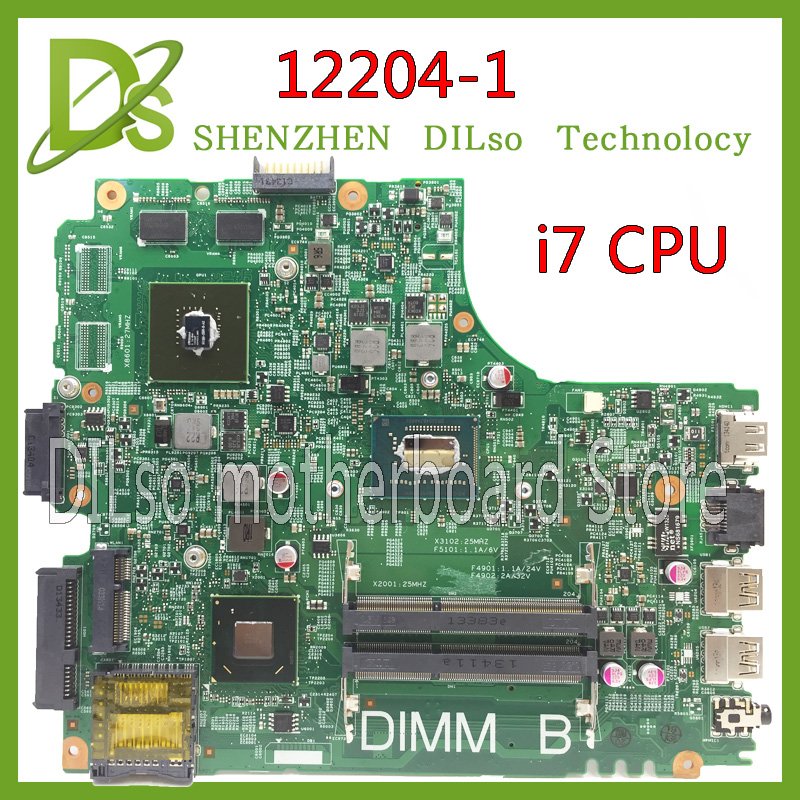 KEFU 12204-para dell INSPIRON 3421 placa base de computadora portátil 12204-1 dell motherboard i7 CPU original de placa base