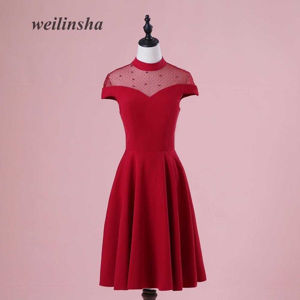 Weilinsha nuevo de la vendimia A line vestidos de noche 2018 ver a ...