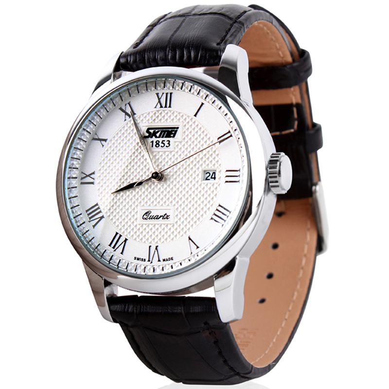 SKMEI 9058 Fashion Men Watches Water Resistant Dress Watch Analog Display Quartz Wristwatches