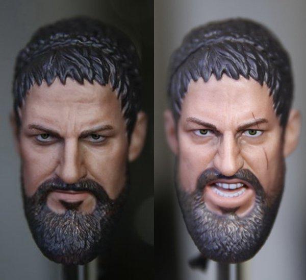 1:6 skala männliche Figur zubehör Gerard Butler Spartan Krieger 300 König Leonidas...