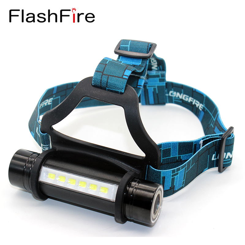 6 LED CREE Q5 outdoor camping headlamp waterproof 3 modes head band lamp flashlight cree 18650