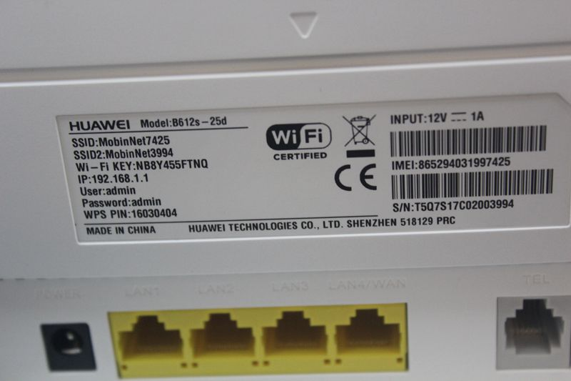 Unlocked Huawei B612 B612s-25d with Antenna 4G LTE Cat 6 300Mbs CPE