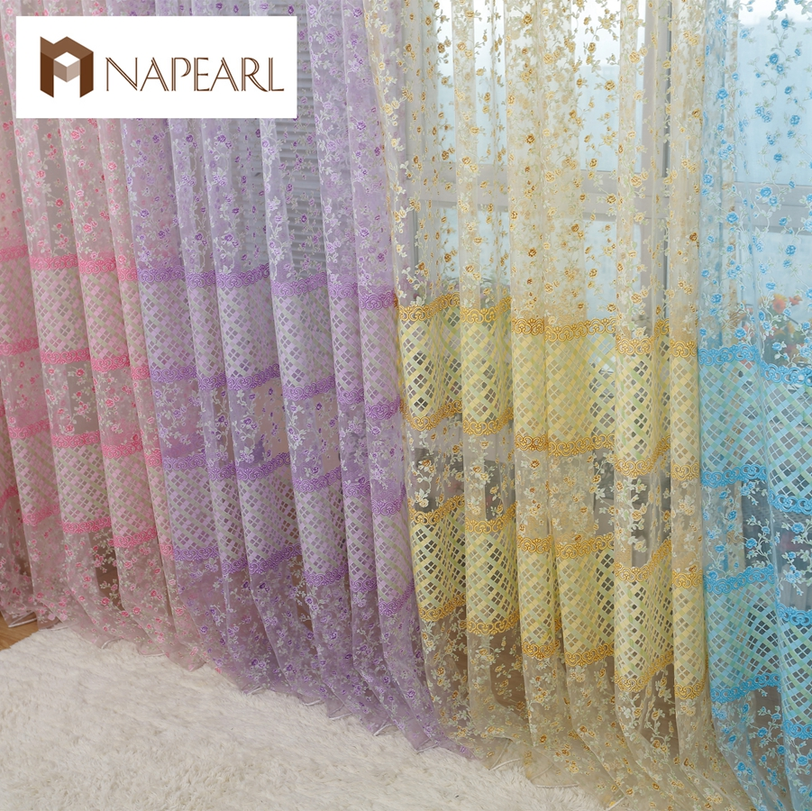 Buy modern window curtain printed tulle for Space curtain fabric