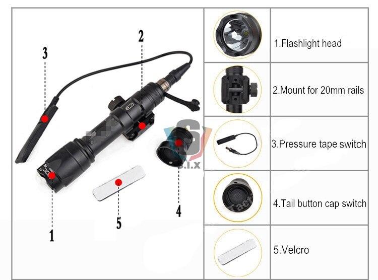 Surfire tático m600c lanterna e dbal emkii