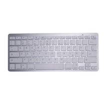 QUWIND German Keyboard Bluetooth Wireless Keyboard for iPad PC Notebook Laptops for ios and Android White