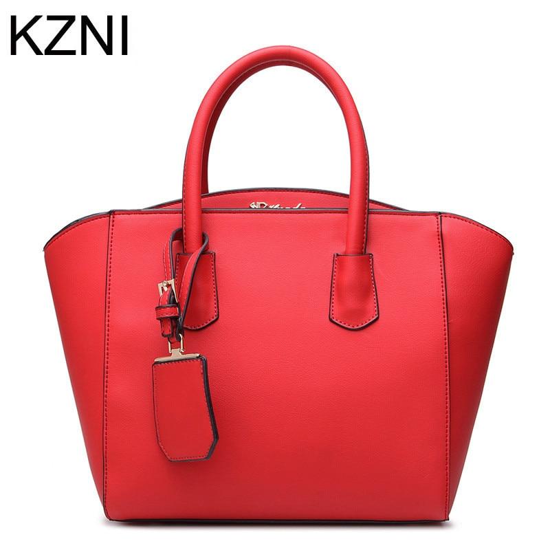 ФОТО KZNI women messenger bags luxury handbags women bags designer genuine leather bags for wo bolsa feminina de marca famosa L030723