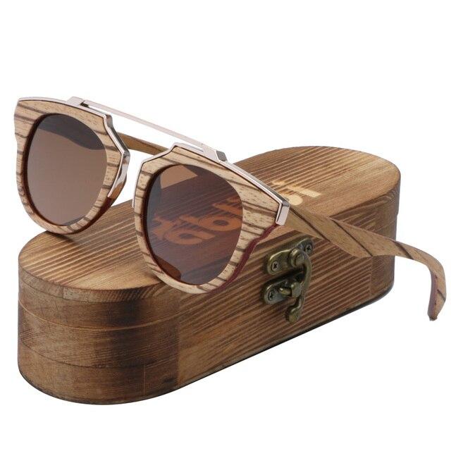 Ablibi hombres Skateboard madera Zebra Gafas de sol polarizadas bambú Sol  Gafas oculos de sol femenina ed016238ffad