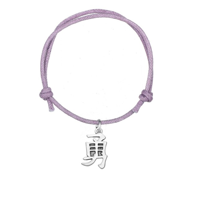 Teamer New Arrival Wax Cord Bracelet Chinese Characters Symol Of