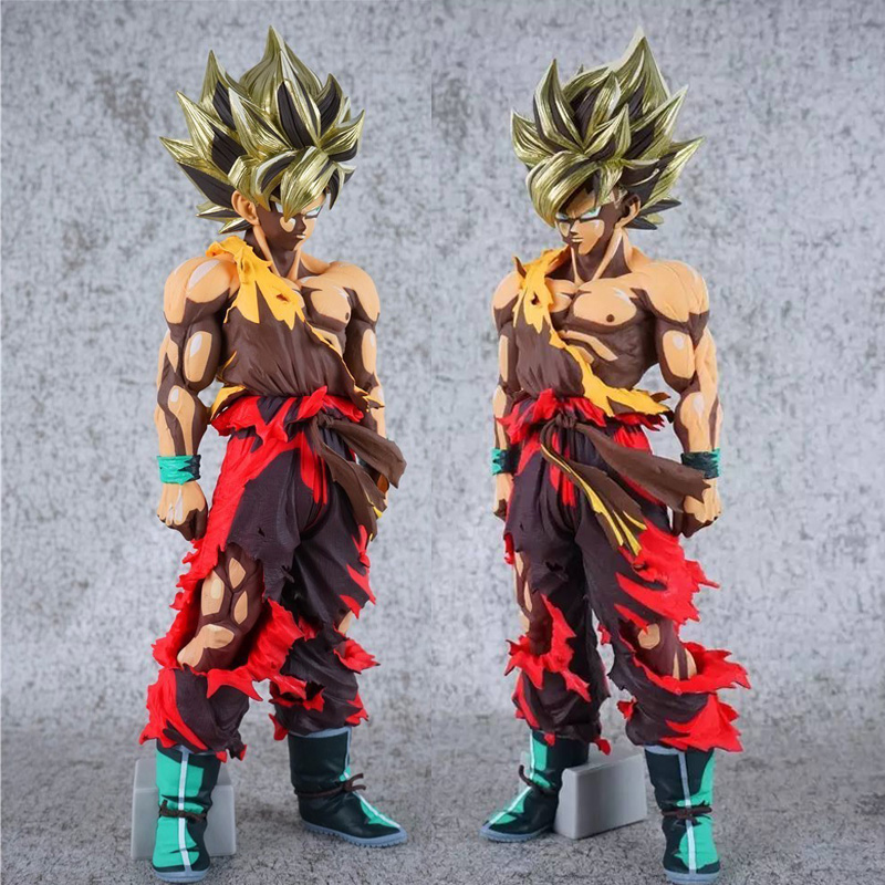 35cm Dragon Ball Z Figures Son Goku Figure Comic No 55 DBZ Super Saiyan Goku PVC Action Figures Model Toys dragon ball z action figures super saiyan son goku grey color anime dbz collectible model toys 350mm dragon ball gt toy