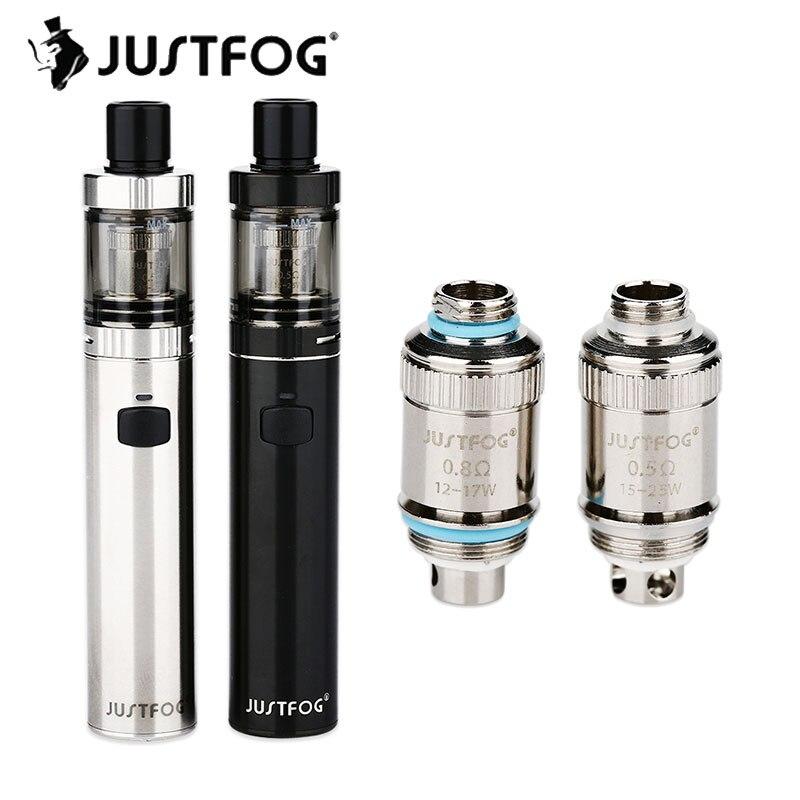 Neue Stift Kit JUSTFOG FOG1 mit 1500 mah Batterie & 2 ml Kapazität Tank Mit Top Füllung mit 0,5/ 0.8ohm Spule Elektronische Cigarett