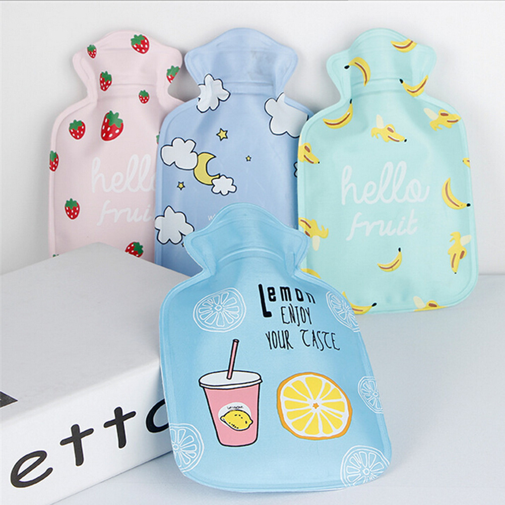 1PCS Cute Mini Hot Water Bottles Cartoon Hand Po Warm Water Bottle  Small Portable Hand Warmer Water Injection Storage Bag Tools