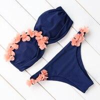 Sexy Bikini 2018 Hot Design Swimwear Women Swimsuit Push Up 3D Floral Bikini Set Biquini Bathing