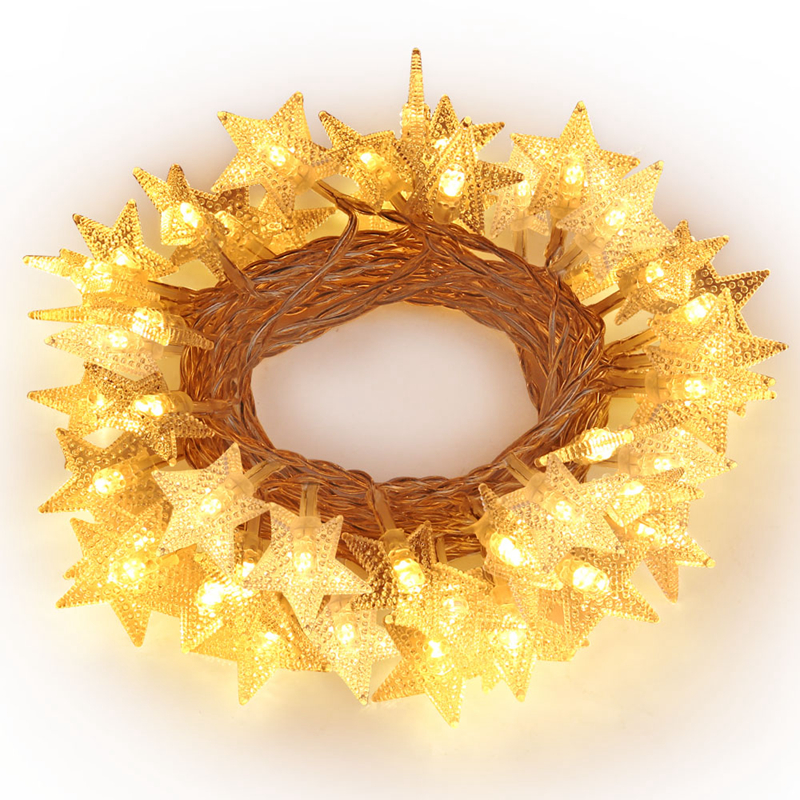 Fashion 20Led/40Led/50Led Stars Fairy String Lights for Xmas Garland Party Wedding Decor ...