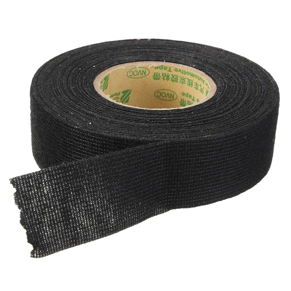 wiring harness glue insulating fabric cloth tape 15m x 25mm adhesive tape wiring  insulating fabric cloth tape 15m x 25mm