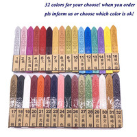 6PCS Hot Sale 32 Colors Sealing Wax Sticks for High fashioned Product Wine Card Document Sealing & Decoration