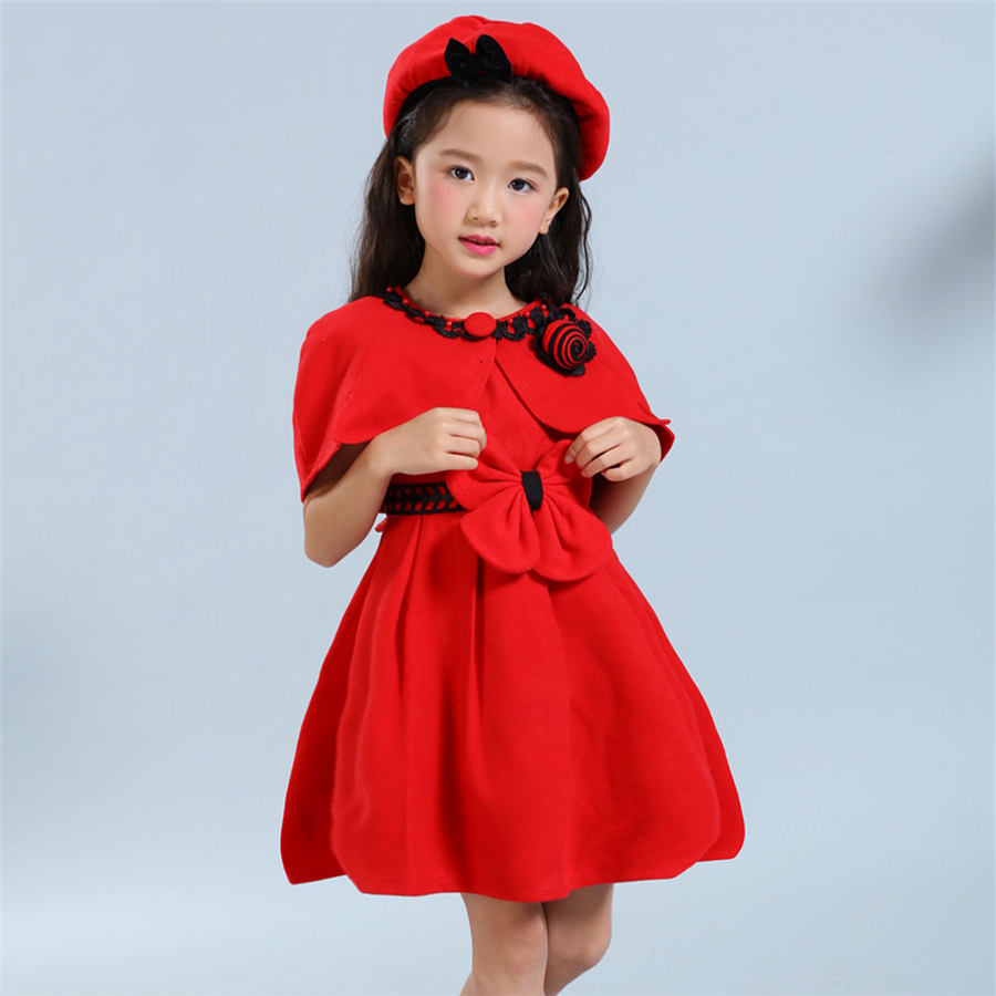 New Girls Dress for 4 5 6 7 8 years Red Butterfly Fashion Cotton Party Pageant Casual Kids girl summer dresses Clothing zq-33 embossed tpu gel shell for ipod touch 5 6 girl in red dress