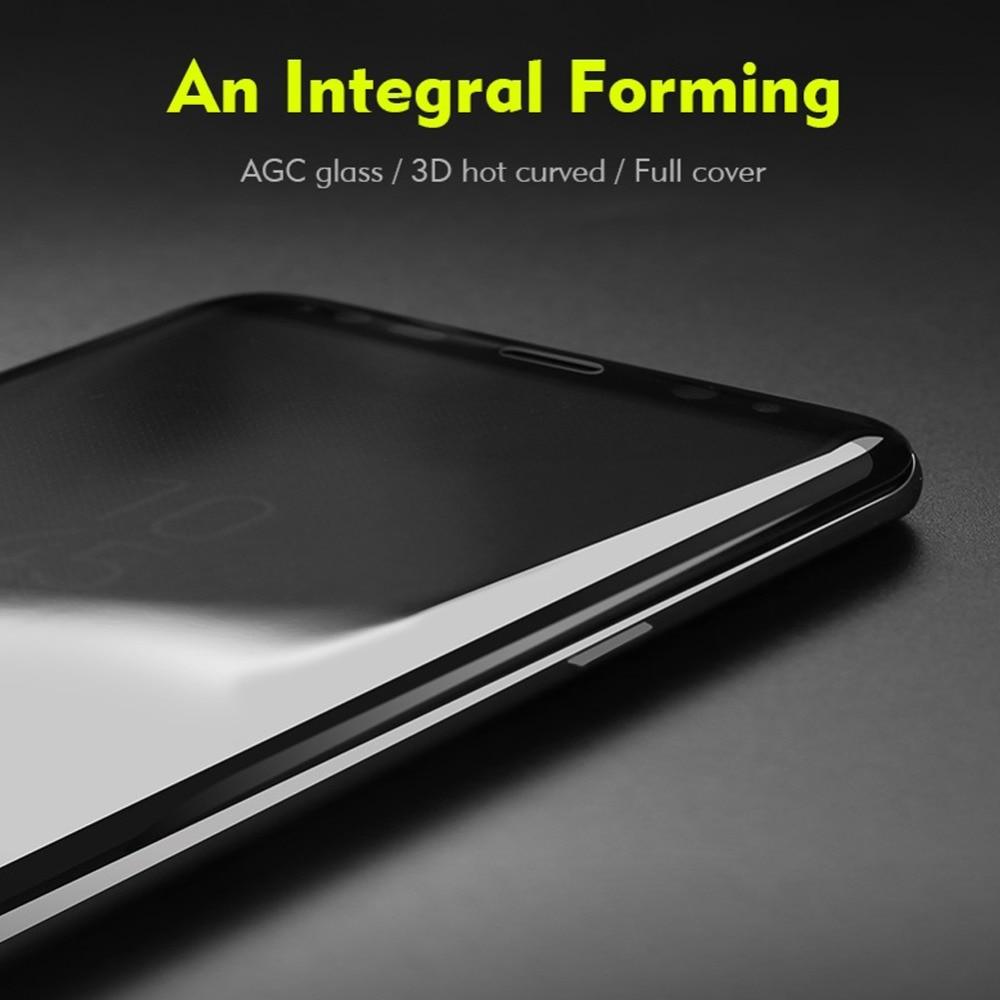 imágenes para Ronda 3D Curvo de Vidrio Templado Para Samsung Película De Revestimiento De Vacío Para la Galaxia S8 S8 Plus Ultra-Delgado de Pantalla Protector