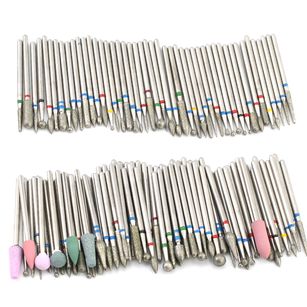 4pcs Nail Drill Set Professional Electric Milling Cutters Bit Ball Stone Metal Brush Manicure Machine Accessories Tools
